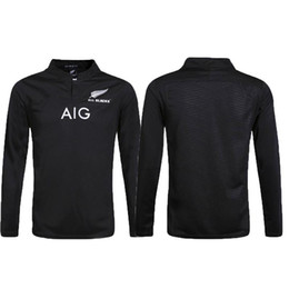 91493ad07 Top quali Zealand All Blacks Long sleeve Rugby Jersey Shirt 2015 2016 2017  Season