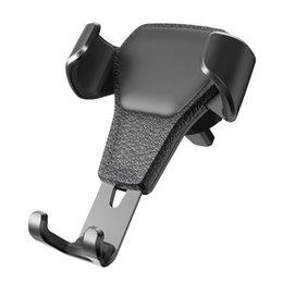 Универсальный кожаный чехол Gravity Автомобильный держатель телефона Клип Air Vent Mount Автомобильный держатель