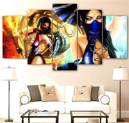 $enCountryForm.capitalKeyWord Australia - Mortal Kombat ,5 Pieces The Latest Most Popular High-definition Canvas Printed Home Decorative Art  Unframed   Framed