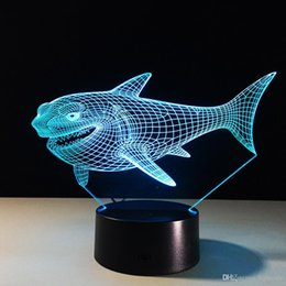 Childrens lamp online shopping - Billhead Shark Color Changing Night Light Collectible Charizard d Led Table Desk Lamp Cartoon Figure Childrens Bedside Lamp
