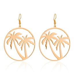 Jewelry & Accessories Tree Pierced Alloy Women Fashion Plated Earrings Coconut Palm