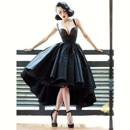 Sexy Little Gowns Australia - Sexy Little Black Dress Off Shoulder Cocktail Dresses Short Front Long Back Backless Latest Gown Design High Low Prom Dress