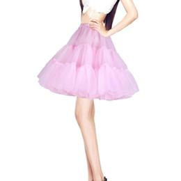 $enCountryForm.capitalKeyWord Australia - High Quality Colorful Girl's Tutu Net Petticoat Underskirt White Black Short Jupon Marriage Petticoats For Wedding