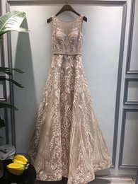 Formal Evening Gowns Pictures Australia - 2019 Real Picture A Line Prom Dresses Lace Sheer Straps Sleeveless Formal Evening Party Wear Gowns Homecoming Dresses Guest Dress Robes 2K19