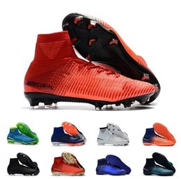 d6e547b337bb6 Newairl kids soccer shoes for boys mercurial superfly fg cr7 sock boots  football womens men high tops ronaldo ankle indoor soccer cleats