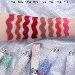 $enCountryForm.capitalKeyWord NZ - 8 Colors Velvet Lipstick Women Makeup Nude Long Lasting Pigmented Lipstick Natural Cosmetic Lip Rouge