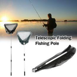 $enCountryForm.capitalKeyWord Australia - 185cm Fishing Net Telescope Fishing Landing Net Triangular Folding Brail Aluminum Alloy Pole Foldable Tackle Pesca