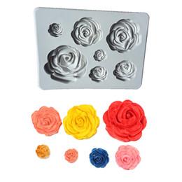 $enCountryForm.capitalKeyWord Australia - 1 pcs Creative Rose Flower Fondant Silicone Mold Gray White Colors Craft Chocolate Baking Mold Cake Decorating Tools New 2019