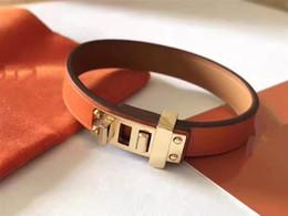 $enCountryForm.capitalKeyWord Australia - 2019 luxury designer jewelry women bracelets stainless steel metal mens bracelets fashion plain weave leather bracelet love bracelet