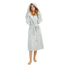 Bath Robe Winter Warm Bathrobes Women Men Flannel Bath Robe Dressing Plus  Size 5XL Soft Gown Bridesmaid bathrobe Robes Female 52dbf4a68