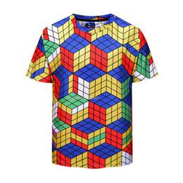 Tops & Tees New Arrival Math Work Short Sleeves Men T-shirt Fitness Cotton Rubik Cube Comics T Shirts