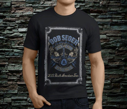 Black S Guitar NZ - mens designer t shirts shirt New Bob Seger amp The Silver Bullet Guitar Men's Black TShirt Size S-3XL