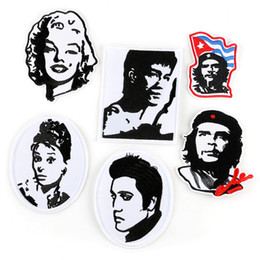 $enCountryForm.capitalKeyWord Australia - Celebrity Portraits Embroidery Patches For Clothes Bruce Lee Elvis Presley Marilyn Monroe Sewing Iron On Patch Applique DIY Badge For Jeans