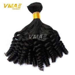 long 22 inch brazilian hair Australia - VMAE Hair Products Funmi non Remy Hair Weave Curls Brazilian virgin human Hair Weave Bundles 10-22 inch Double Layer Weft Last Long
