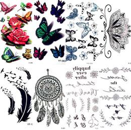 $enCountryForm.capitalKeyWord Australia - Watercolor Sex Butterfly Flower Temporary Tattoo Sticker Lace Women Body Arm Art Waterproof Tattoo Girl Kids Fake Flash Tatoos
