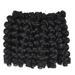 $enCountryForm.capitalKeyWord Australia - 8inch Ombre Jumpy Wand Curl Crochet Braids 22 Roots Jamaican Bounce Synthetic Crochet Hair Extension for Black Women