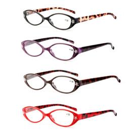5b41fb92ea Leopardo Gafas de lectura Lectores Presbicia + 1.0 / + 1.5 / + 2.0 / + 2.5  / + 3.0 / + 3.5 Crystal Rhinestone Decoración Presbicia Gafas LJJK1479