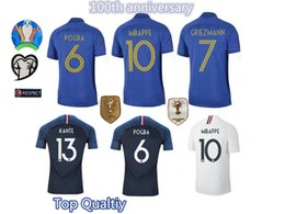 TracksuiTs Thailand online shopping - France Jersey France Jersey Maillot France GRIEZMANN MBAPPE Jersey Thailand Top Quality Soccer Uniform Tracksuit