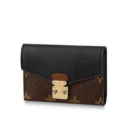 $enCountryForm.capitalKeyWord Australia - New designer Flap black Women Short Wallets Leather Buckle compact purse clutche multicolor card holders Thin Purse Bank Card with box
