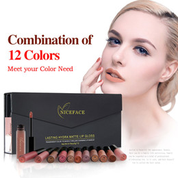 $enCountryForm.capitalKeyWord Australia - Top Seller Brands NICEFACE New 12 Colors Lip Gloss Matte Liquid Lipstick Sexy Lips Paint Waterproof Long Lasting Makeup Tools Cosmetic Kit