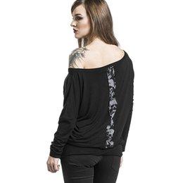 4ae259d093c9 T Shirt Female Skull UK - Women O-Neck Halloween Skull Printed Casual Shirt  Tops