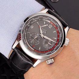 Опт Роскошные механические мужские кожаные часы с автоматическим механическим механизмом 42 мм дизайнерские мужские часы бесплатная доставка и коробка часов A2-1