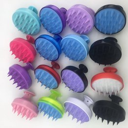 shower head massager UK - Silicone Hair Massager Dandruff Cleaning Bath Brushes Shampoo Brush Shower Hair Scalp Care Hair Growth Soft Comb