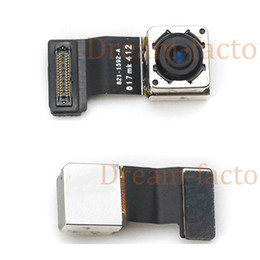 camera 5s UK - 30pcs Back Big Rear Camera With Flash Module Sensor Flex Cable For iPhone 5 5S 5C SE Repair Spare Parts Free DHL