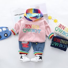hoodies pants cartoon clothes Australia - 0-4 years winter boy girl clothing set 2019 casual thicker warm cartoon cute kid suit children baby clothing hoodies+pant 2pcs