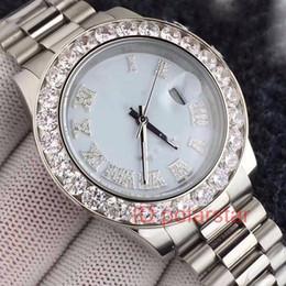 Diamond Man Watch Sale Australia - Hot Sale Stainless Steel Automatic Mechanical Diamond Watch Men Date President 2813 Luxury Mens Watches Montre De Luxe
