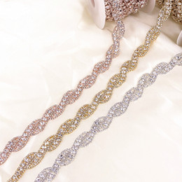 $enCountryForm.capitalKeyWord Australia - 1 Yard Silver Gold Rose Gold Crystal Rhinestone Trim Chain by Yard For wedding dress decorative crystal chain