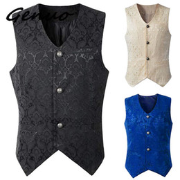 $enCountryForm.capitalKeyWord Australia - Genuo New 2019 men's Steampunk Waistcoat Steampunk Jacket Victorian Sleeveless Gothic Brocade Gothic Vintage Vest