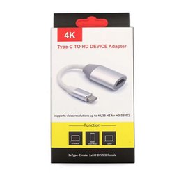 Hdmi Adapter For Note Australia - HDMI Adapter Cable Type C to HDMI Thunderbolt 3 for MacBook Samsung Galaxy S9 S8 Note 9 Huawei P20 Pro USB-C HDMI Adapter