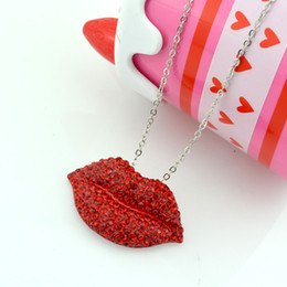 lip pendants Australia - High quality New fashion Jewelry mouth necklace unique red lip woman Chunky choker collar Necklaces & pendants spring summer