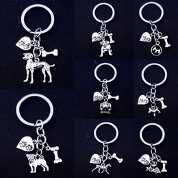 Pet Lovers Gifts Australia - Cute Dog Pet Bone Dog Heart Key Chain For Women Girl Keychain Animals Lover Keyring Gift Charm Pendant Jewelry Key Ring