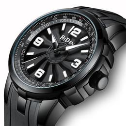 b0b3fc088abd Biden 0136 Relojes Hombres Girar Dial Top Correa de silicona Estéreo Dial  Hombre Sport Reloj masculino impermeable
