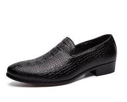 $enCountryForm.capitalKeyWord UK - 2019 Men New Imitation alligator grain flats Slip-on Dress Shoes Male Wedding Homecoming Evening Groom Prom shoes for man cx679