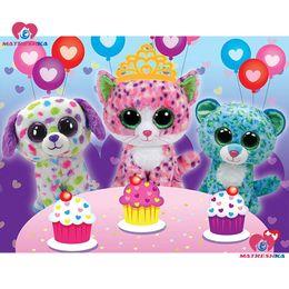 $enCountryForm.capitalKeyWord NZ - Diamond embroidery for children cartoon cats pictures of rhinestones diamond painting full square cross-stitch kits needlework