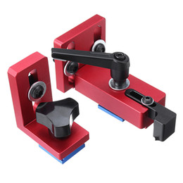 slot track Australia - Fixed T-Slot Miter Track Stop Chute Stopper 30 45 Manual Woodworking DIY Tools