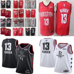 2019 Men s Houston jersey James Rockets Harden Chris Hakeem Paul Olajuwon  Red White Black Stitched Jerseys b5ab7d906