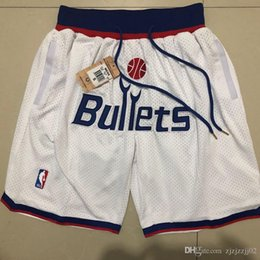 Bulls shorts jersey online shopping - 2018 HOT SALE New Season Authentic Wizards Running Basketball Jersey Shorts Washington state Men and youth Bulls Short Jersey
