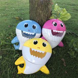 $enCountryForm.capitalKeyWord Australia - Kid toys Baby Shark Bath Bubble Maker With Music Kids Bath Toy Pool Swimming Bathtub Soap Machine Shower Companion 5072