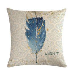 $enCountryForm.capitalKeyWord Australia - Soft cotton linen printed pillowcase cushion home decoration sofa sofa 45 x 45 cm