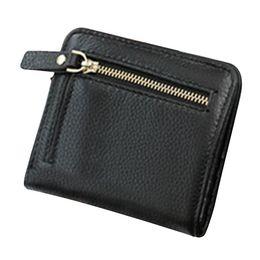 China Exquisite Women's Small Compact Genuine Leather Pocket Purse Fashion Simple Mini Thin Wallet Buckle Handbag ZK50 cheap korean silk handbags suppliers