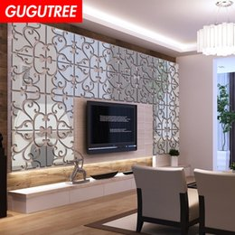 $enCountryForm.capitalKeyWord Australia - Decorate Home 3D flower leaf cartoon mirror art wall sticker decoration Decals mural painting Removable Decor Wallpaper G-307