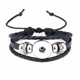 Chinese  Fashion Punk 317 Interchangeable Really Genuine Leather Retro Bracelet 12mm 18mm Snap Button Bangle Charm Jewelry For Women Men Gift manufacturers