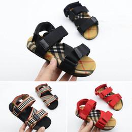 Toddler leaTher sandals boys online shopping - 2019 Kid Shoes Sandal Baby Shoes Children Sandals Infant Shoes Boys Girls Summer Sandals Kids Footwear Toddler Sandals Lovekiss