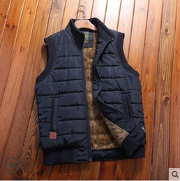 army green sleeveless jacket NZ - MANLI 2019 Autumn Winter Men Coat Warm Sleeveless Jacket Brand Men Vest Coat Fleece Army green Waistcoat Cameraman Vest