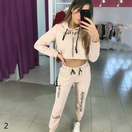 Wholesale slimming spandex yoga pants resale online – Womens Designer Fashion Tracksuits Brand Solid Color Letter Print Two Piece Set Womens Luxury Two Piece Pant Clothing Set High Quality