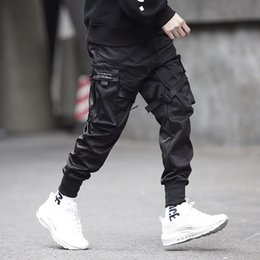 b9cf2ba18 Men Multi-pocket Elastic Waist Design Harem Pant Men Streetwear Punk Hip Hop  Casual Trousers Joggers Male Dancing Pant